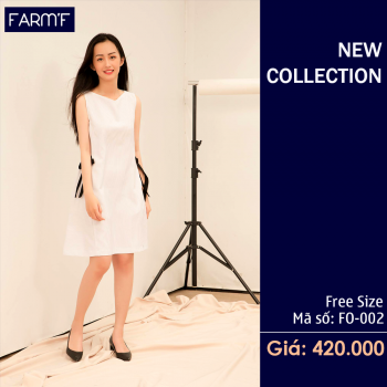 Váy thắt nơ eo F0- 002