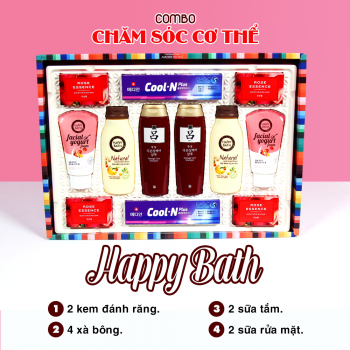 Happy Bath Gift Set (Combo12 Món)