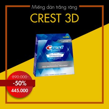 Miếng dán trắng răng 3D Crest USA