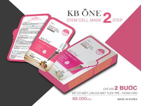 Mặt Nạ Dưỡng Chất Ốc Sên KB One - KB One Stem Cell Mask 2Step