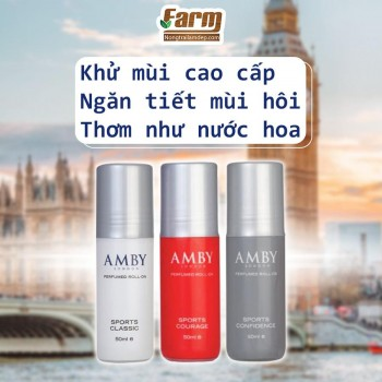 Chai lăn khử mùi - AMBY PURFUMED ROLL - ON SPORTS COURAGE 50ml