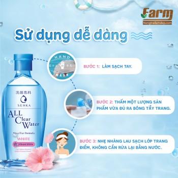 Nước tẩy trang Senka dưỡng trắng 230ml