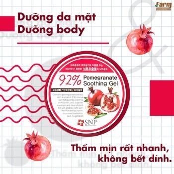 Gel Dưỡng Ẩm Dịu Da Chiết Xuất Quả Lựu SNP – 92% Pomegranate Soothing Gel