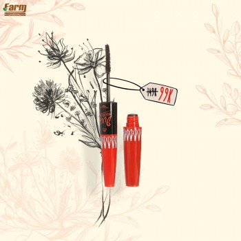 Mascara 2 đầu nối mi Sivanna Super Model 5x Long 5.7g