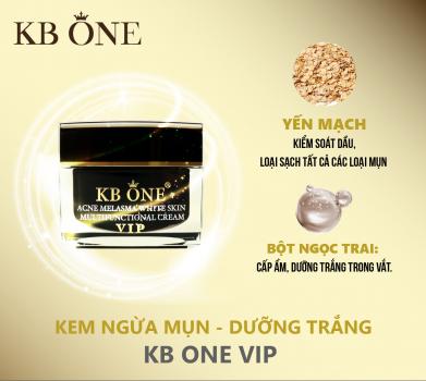 KEM DƯỠNG NGỪA MỤN TRẮNG DA KBONE VIP ĐEN 50G