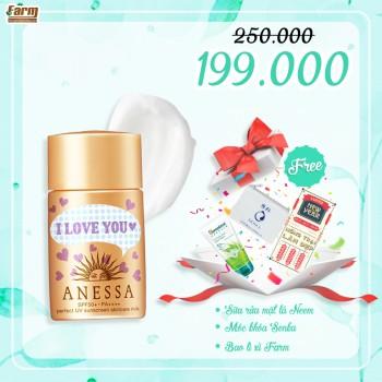 Sữa chống nắng Anessa phiên bản đặc biệt I LOVE YOU - 20ml