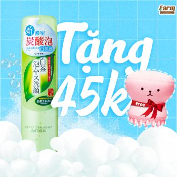 Bọt Rửa Mặt Trà Trắng Shirochasou Rohto White Tea Foaming Wash - 150g