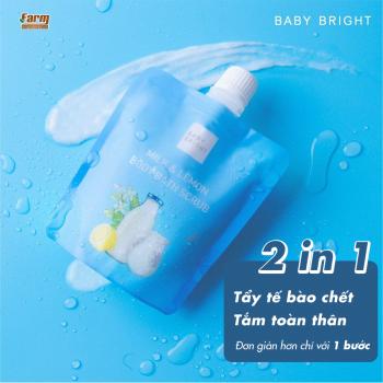 Muối Tẩy Da Chết Toàn Thân Baby Bright Milk And Lemon