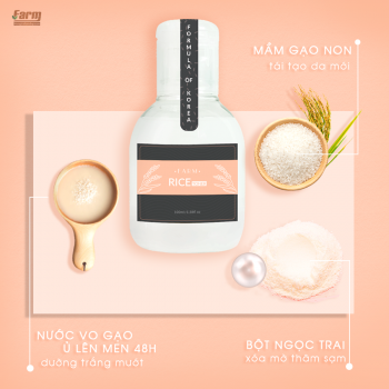 Toner Nước Vo Gạo Farm Rice Extract