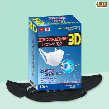 Khẩu Trang 3D Hello Mask  - Hộp 10 Chiếc