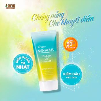 Tinh Chất Chống Nắng Hiệu Chỉnh Sắc Da Skin Aqua Mint Green