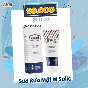 Sữa Rửa Mặt Tạo Bọt Kem Cạo Râu Dành Cho Nam Giới 150ml M'Solic