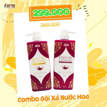Combo Dầu Gội & Kem Xả Nước Hoa Farm