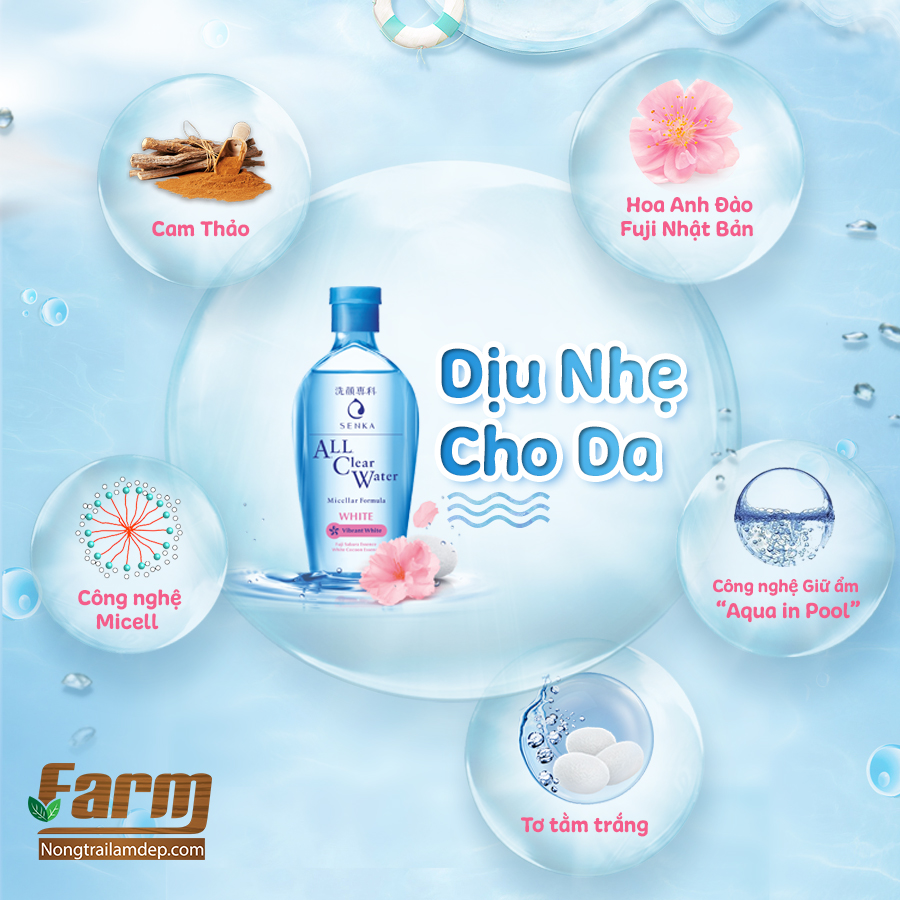 Nước tẩy trang Senka All Clear Water Anti Shine