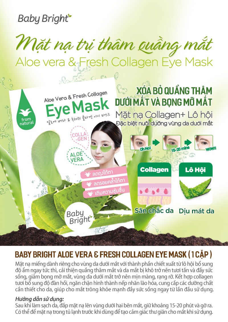 Aloe Vera Fresh Collagen Eye Mask