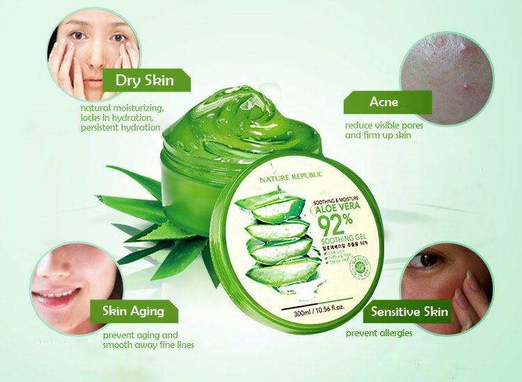 Gel lo hoi Nature Republic Aloe Vera 3