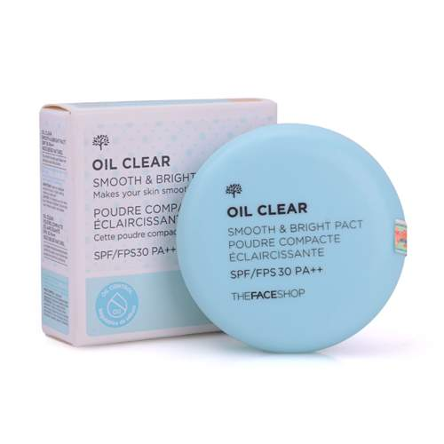 the face shop oil clear smooth and bright pact spf30 pa 8386