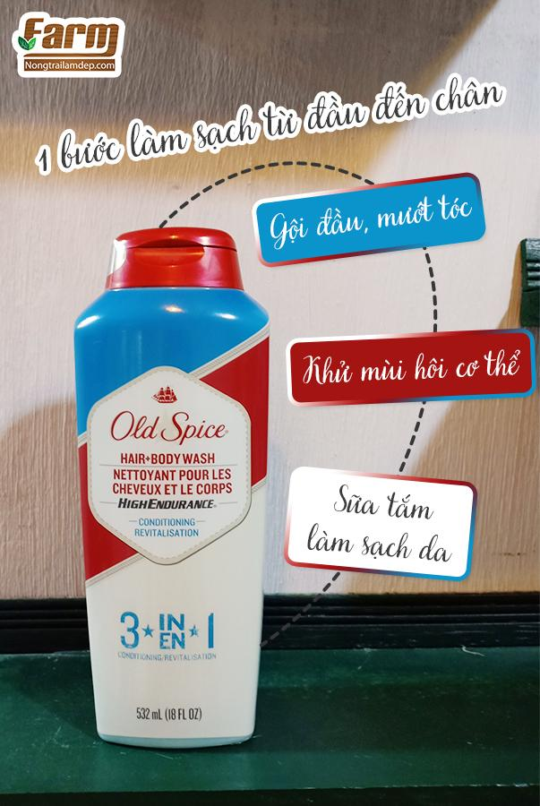 sữa tắm gội 3 trong 1 old Spice 2