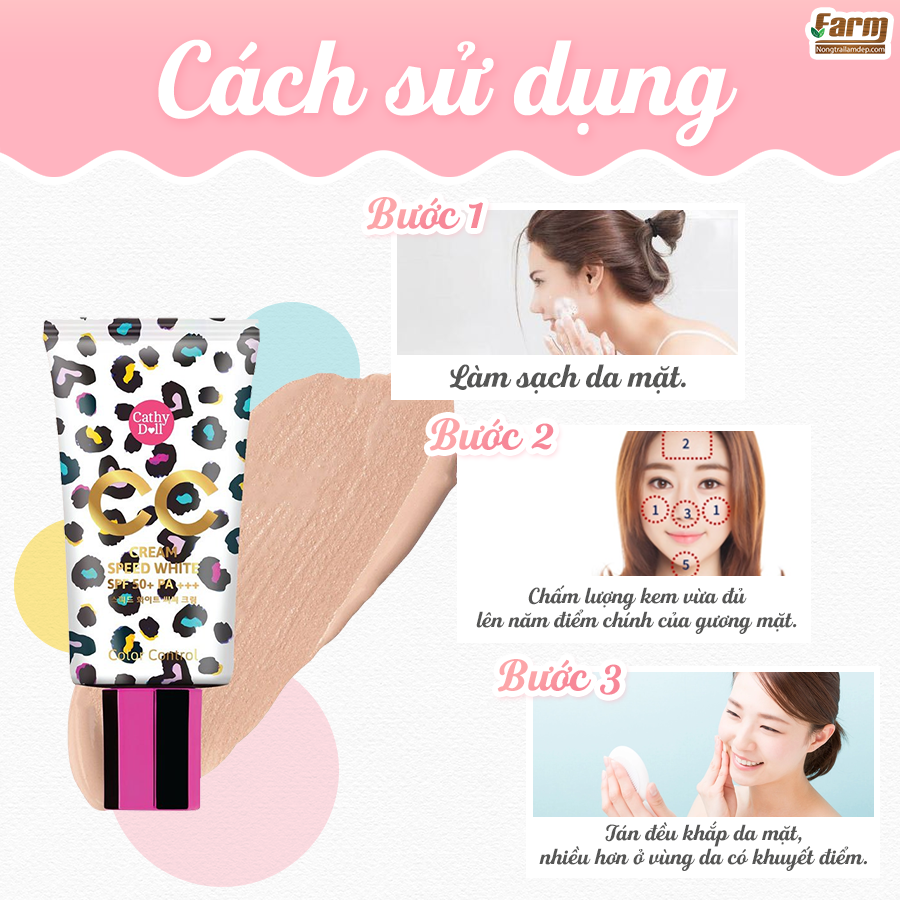 Kem nền Cathy Doll Speed White CC Cream - 50ml 5
