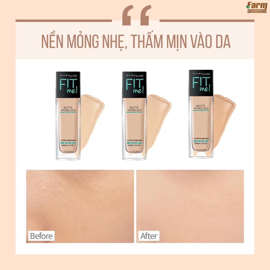 Kem Nền Fit Me Foundation 4